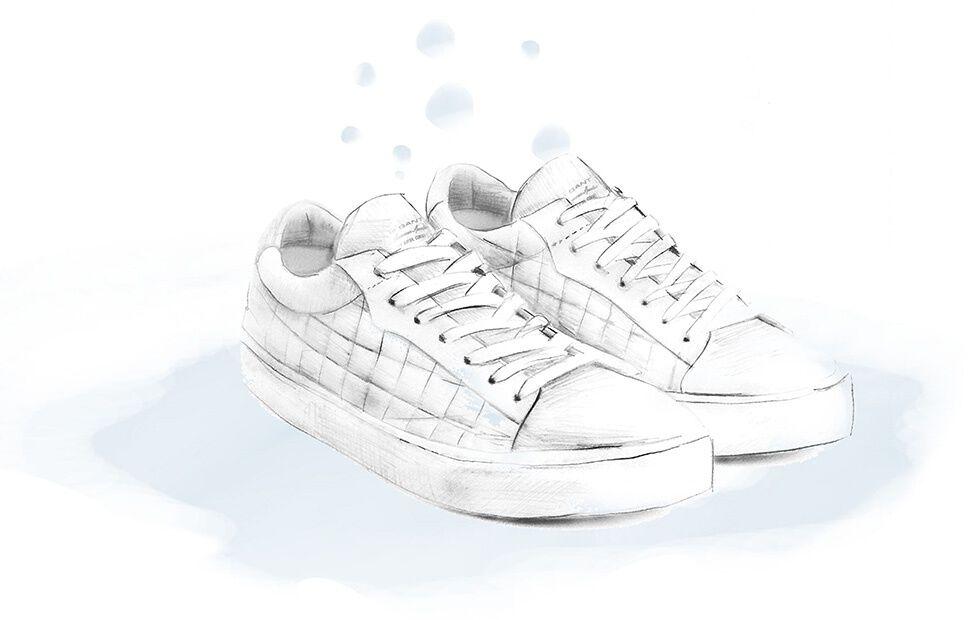 Wie Sie weiße Sneaker sauberhalten