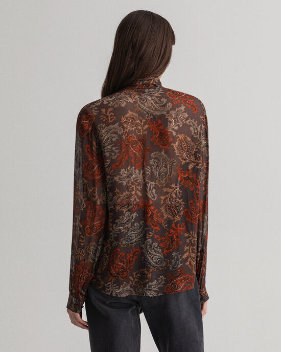 Schluppenbluse mit Paisley-Muster