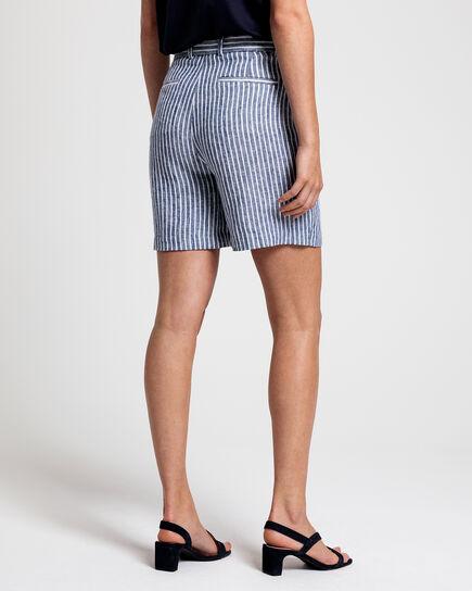 Gestreifte Leinen Shorts