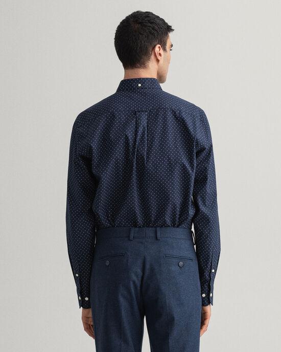 Regular Fit Oxford-Hemd mit Mikro-Paisley-Muster