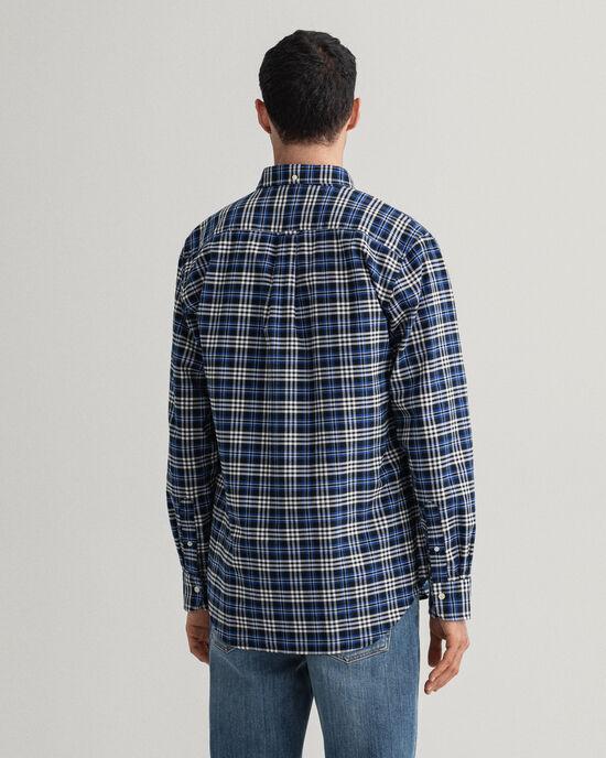 Gebürstetes Regular Fit Oxford-Hemd mit Karomuster
