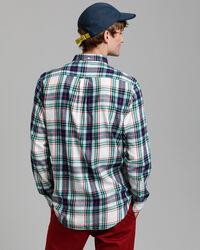 Windblown Regular Fit Flanellhemd in Indigoblau