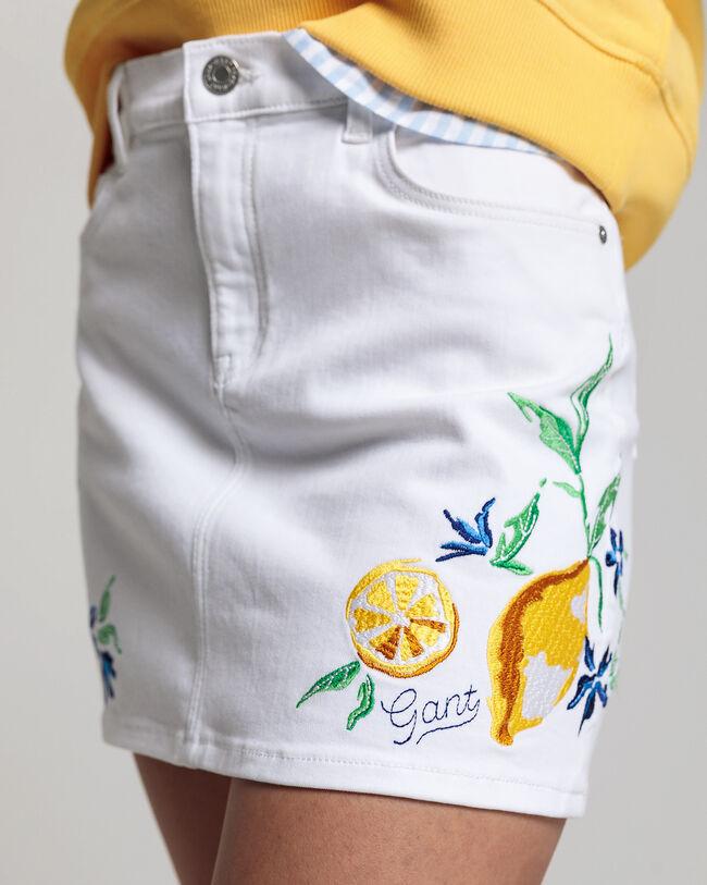 Teen Girls Summer Twill Rock mit Stickerei