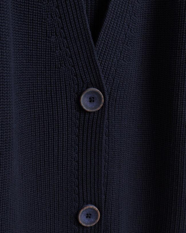 Detail Strickjacke mit Rippmuster