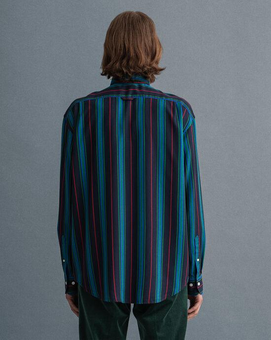 Relaxed Fit Lyocell Hemd mit Streifen