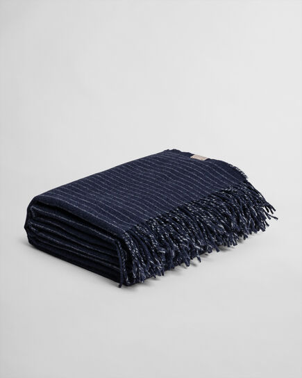 Decke mit Nadelstreifen