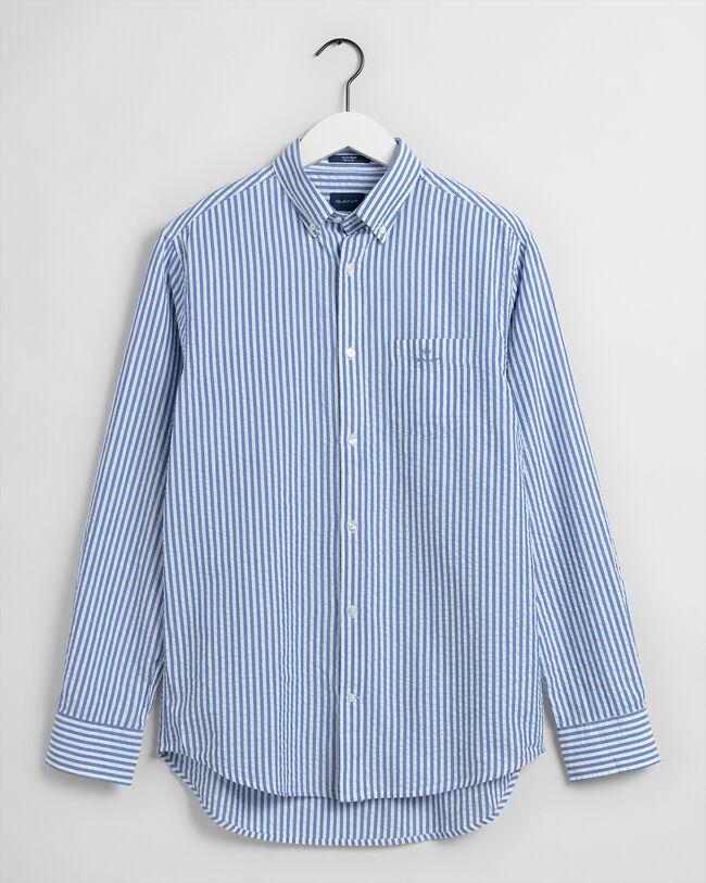 Tech Prep™ Regular Fit Hemd mit Seersucker-Streifen