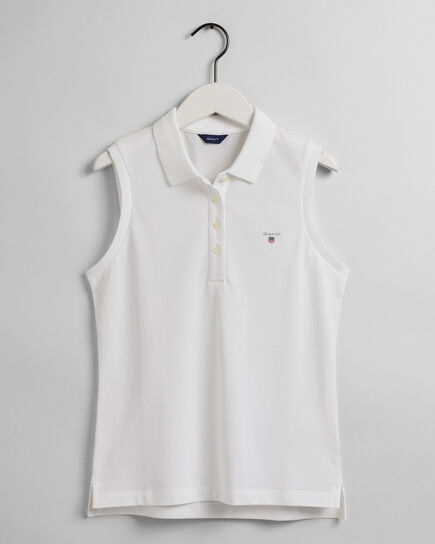 Original Piqué Poloshirt ohne Ärmel