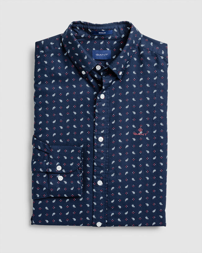 Paisley Print Regular Fit Oxford-Hemd