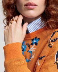 Marine Paisley Strick Sweater