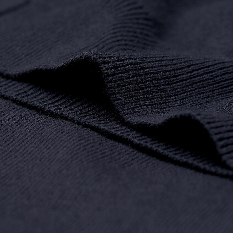 Strickjacke aus Baumwoll-Wollmischung mit Reißverschluss