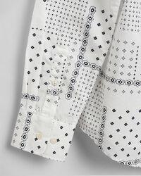 Broadcloth Bluse mit kleinem Paisley-Muster