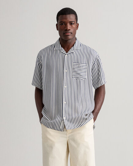 Relaxed Fit Hemd mit Streifen