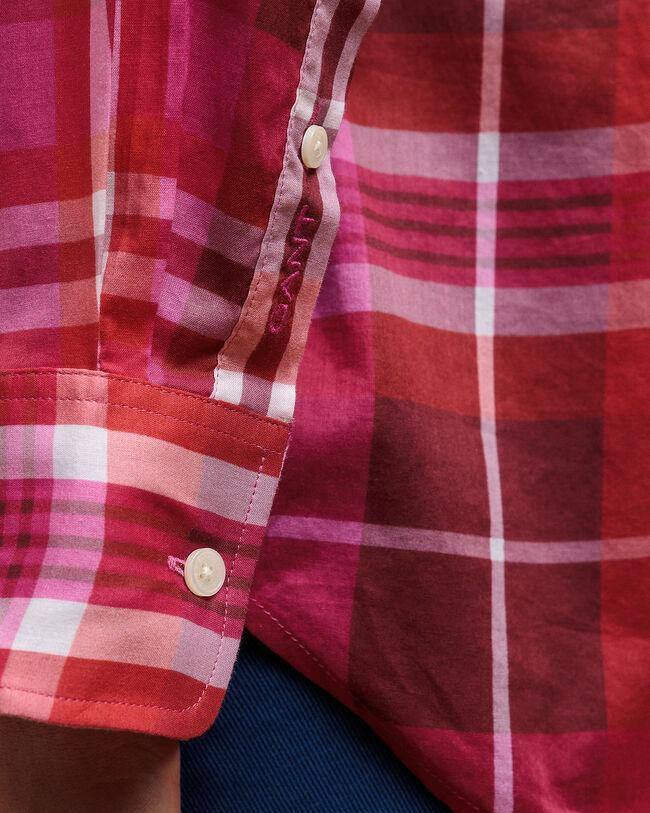 Ex-Boyfriend Fit Bluse mit buntem Karomuster