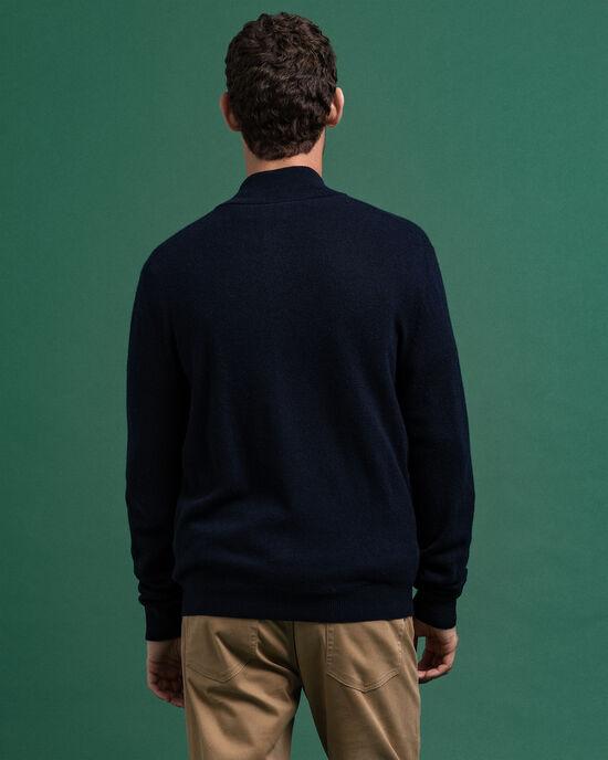 Strickjacke aus Extra Fine Lambswool mit Reißverschluss