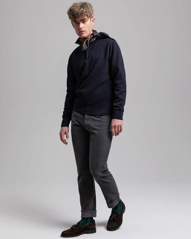 Sacker Rib Sweatshirt mit Reißverschlusskragen