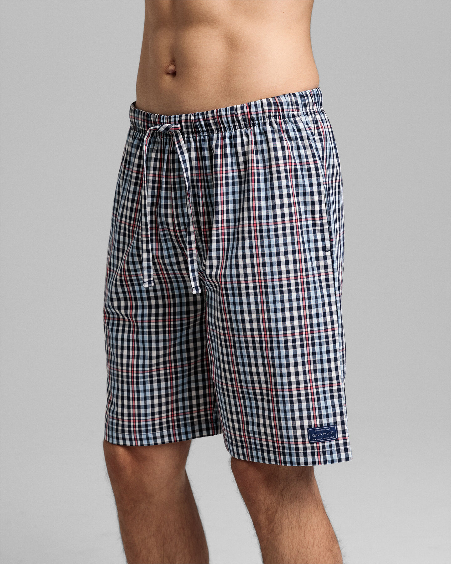 Pyjamashorts mit großen Karos
