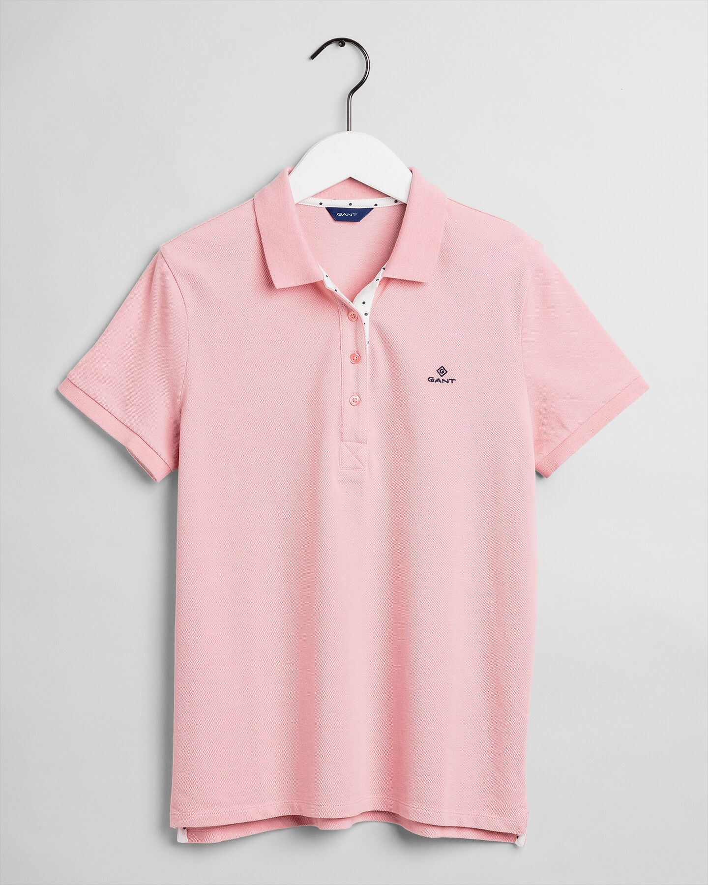 French Dot Detail Piqué Poloshirt