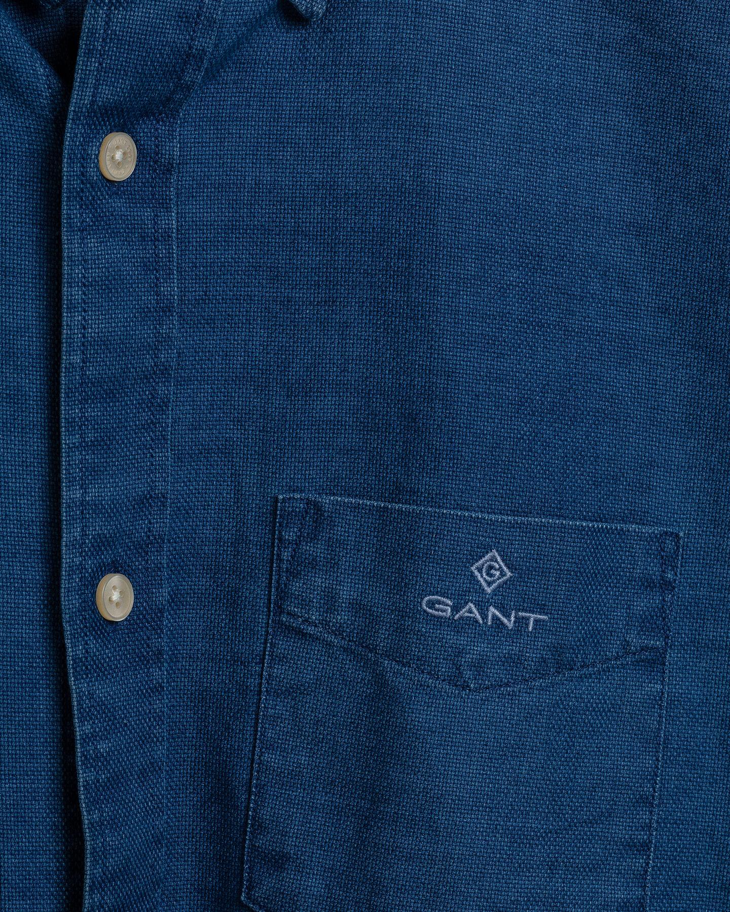 Indigoblaues Royal Regular Fit Oxford-Hemd