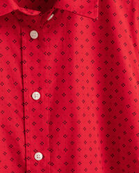 Fairly Dot Stretch Broadcloth Bluse