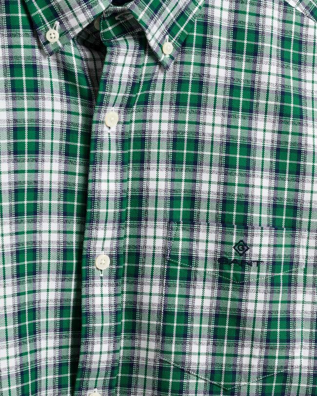 Regular Fit Mouline Oxford-Hemd mit Karomuster