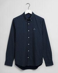 Geometric Floral Slim Fit Hemd mit Print