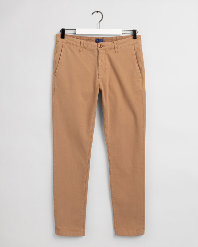 Slim Fit Canvas Chinohose