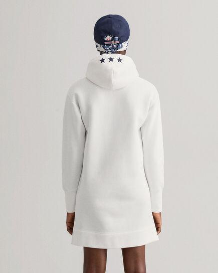 Retro Shield Hoodie-Kleid