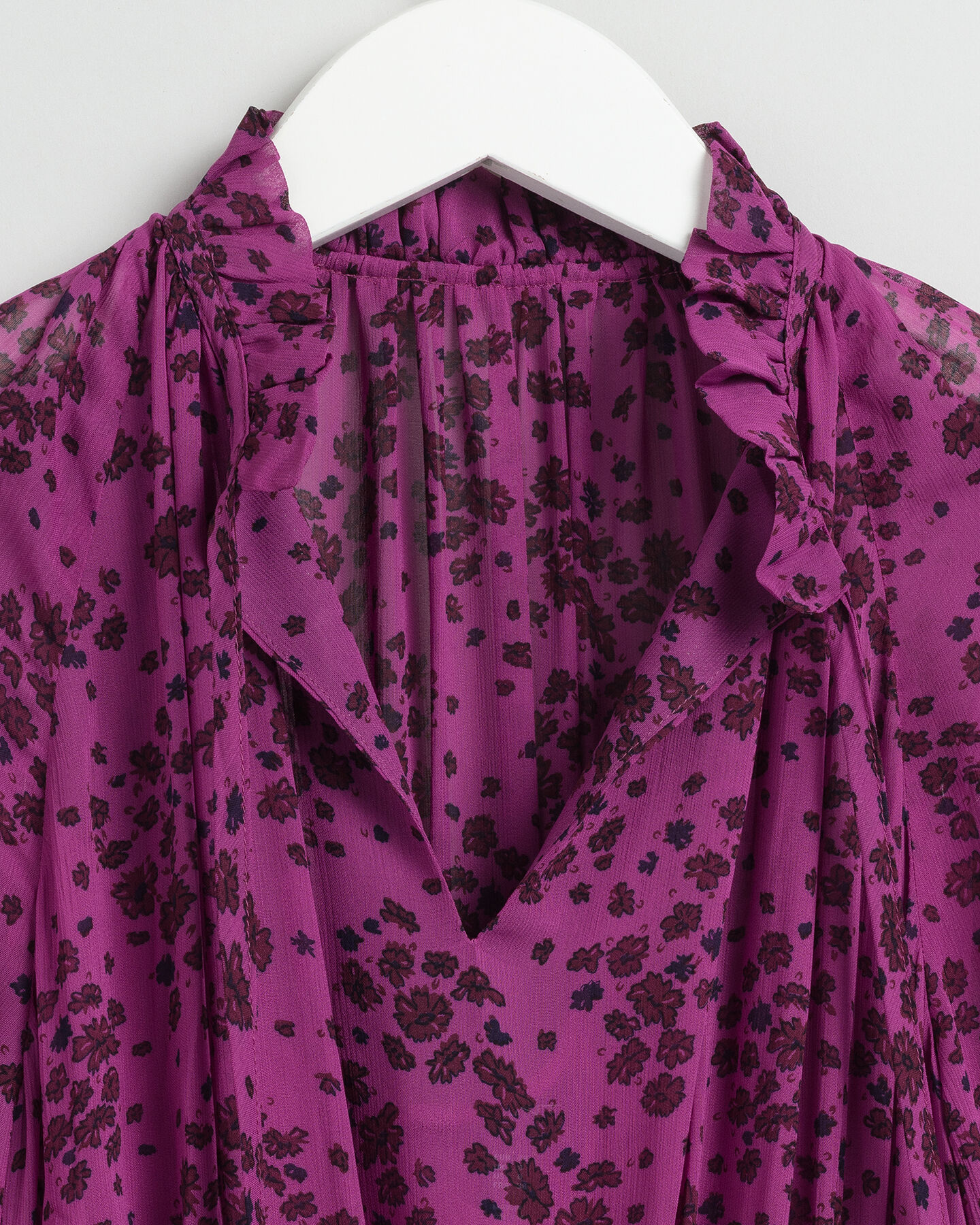 Fall Flower Crinkle Kleid