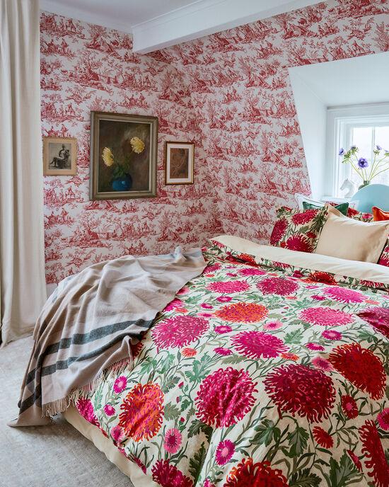 Dahlia Flower Bettdeckenbezug