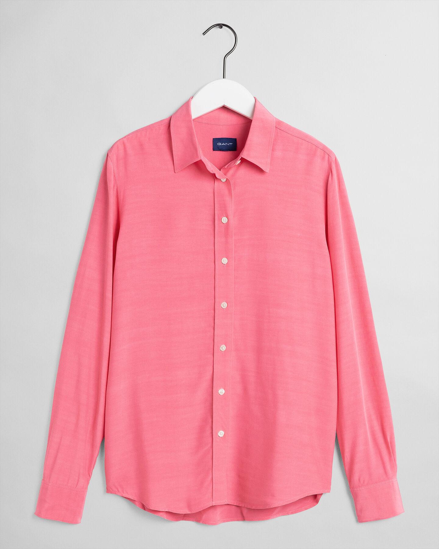 Einfarbige Crepe Bluse
