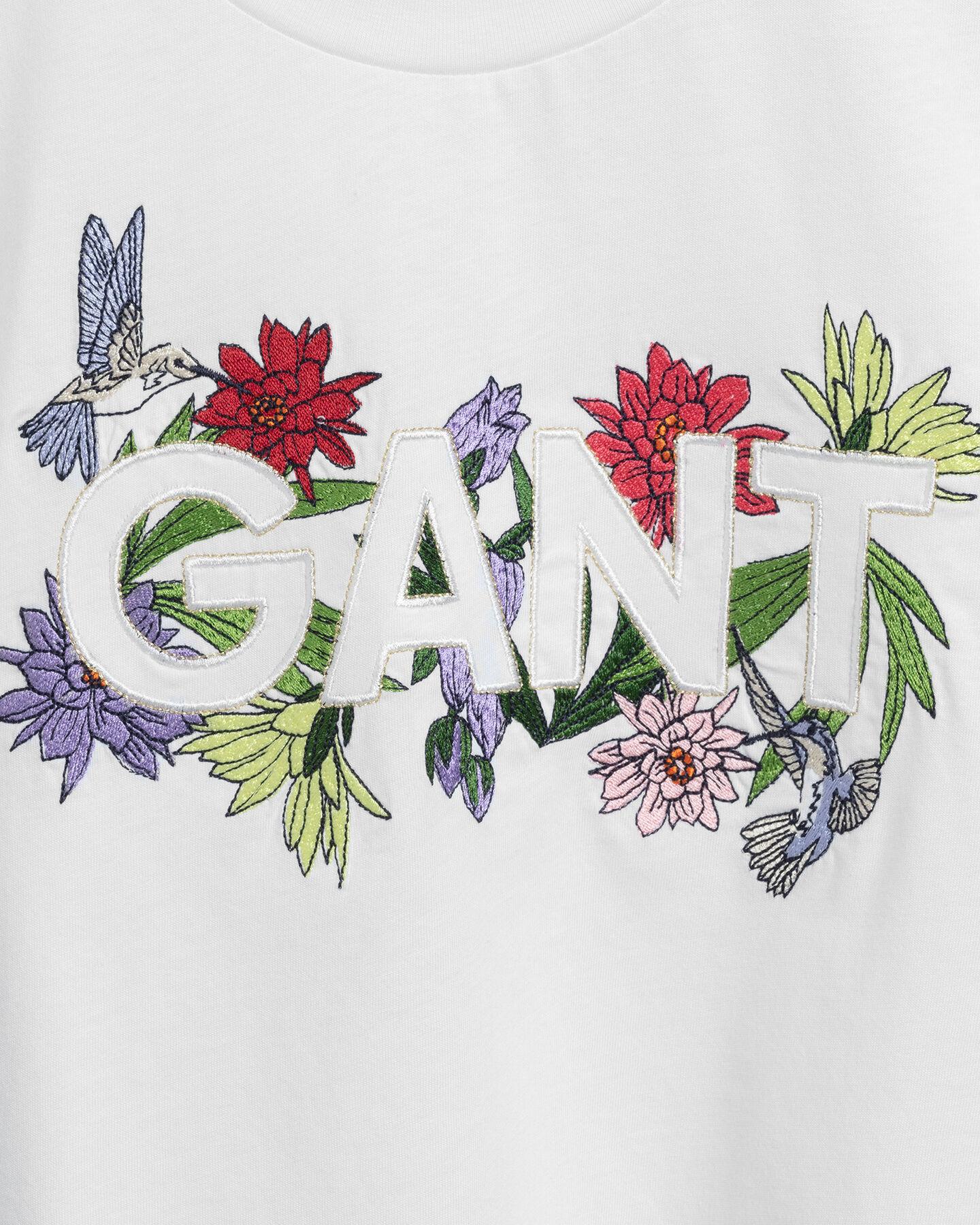 Teen Girls Flower Logo T-Shirt