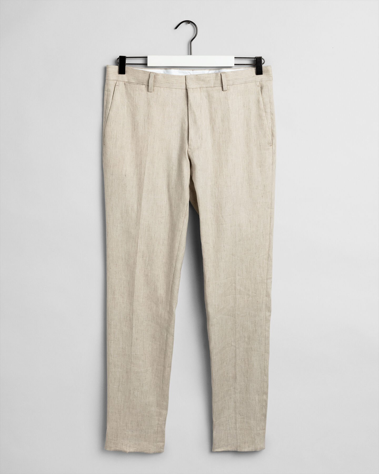 Slim Fit Stretchleinen Anzughose
