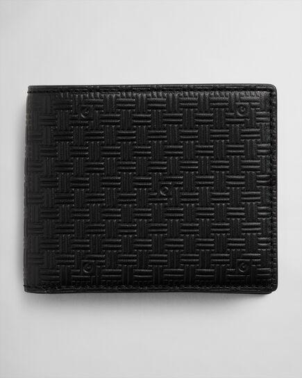 Signature Weave Leder-Geldbörse