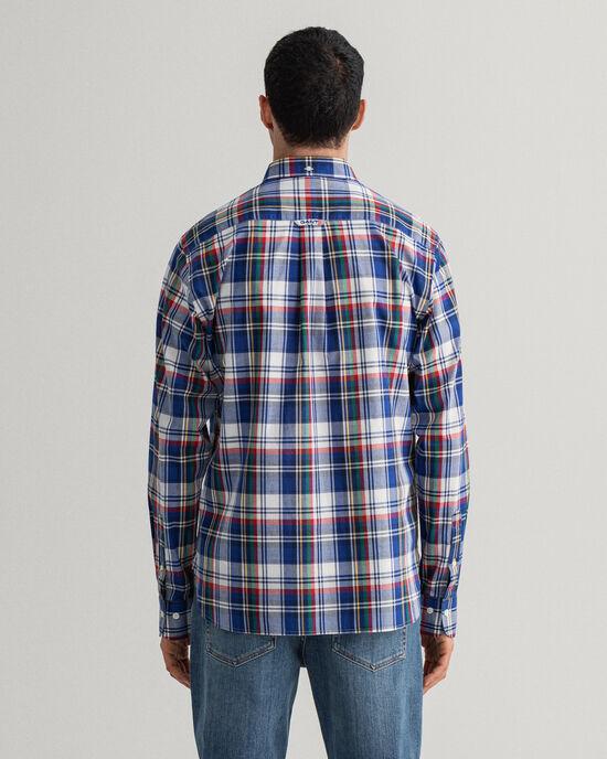 Gewaschenes Regular Fit Hemd mit Karomuster