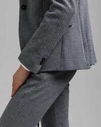 Slim Fit Jersey Blazer mit Fischgrätmuster