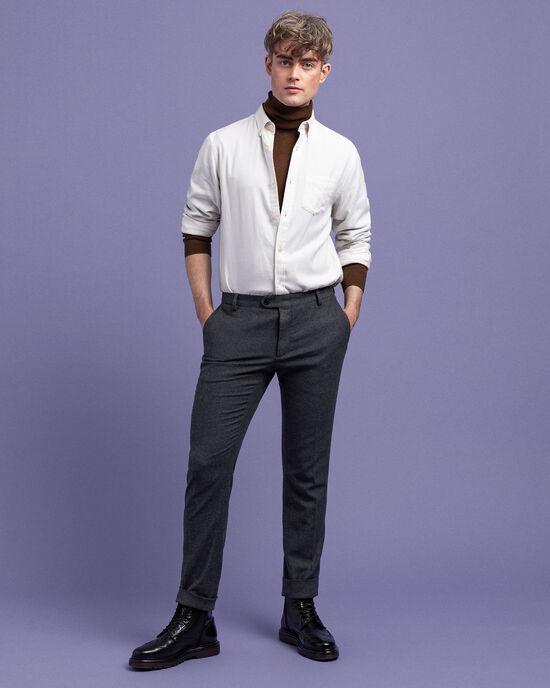 Slim Fit Flanell-Anzughose