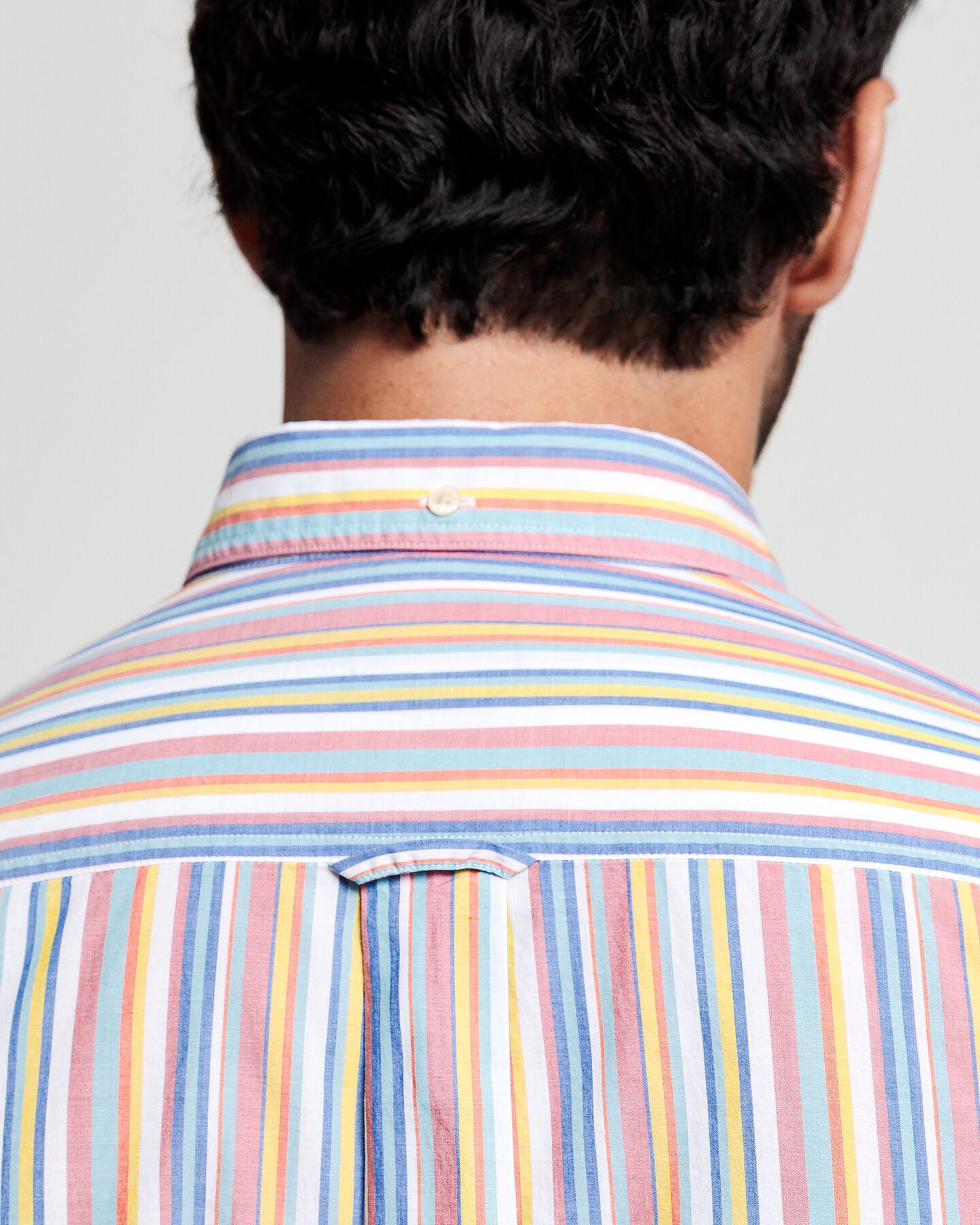 Summer Regular Fit Broadcloth Hemd mit Streifen