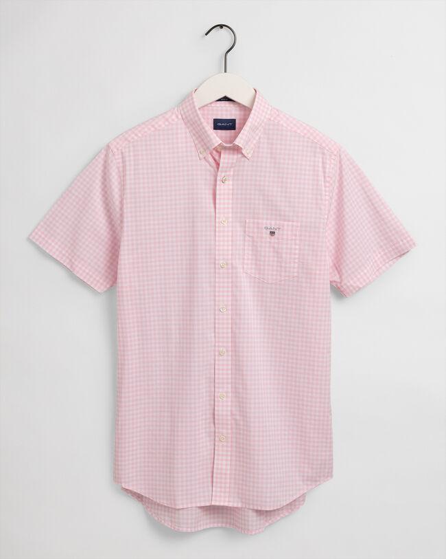 Regular Fit Broadcloth Kurzarm Hemd mit Vichy-Karo
