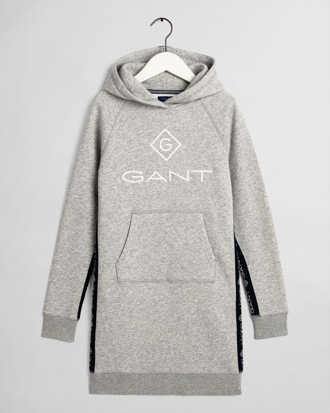 Teen Girls Hoodie-Kleid mit Logostreifen