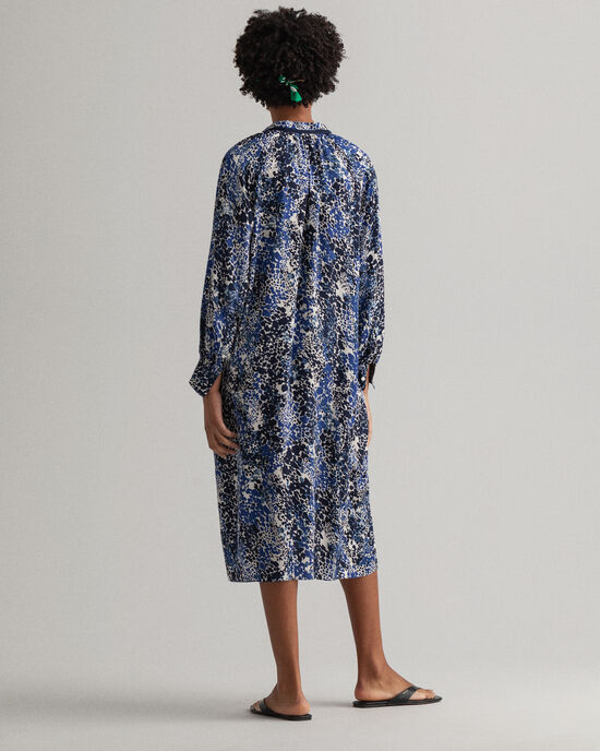 Hemdblusenkleid mit Punktprint