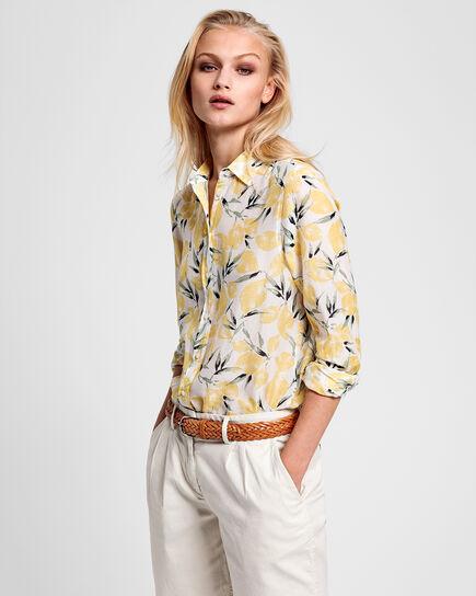 Lemon Baumwoll Seiden Bluse