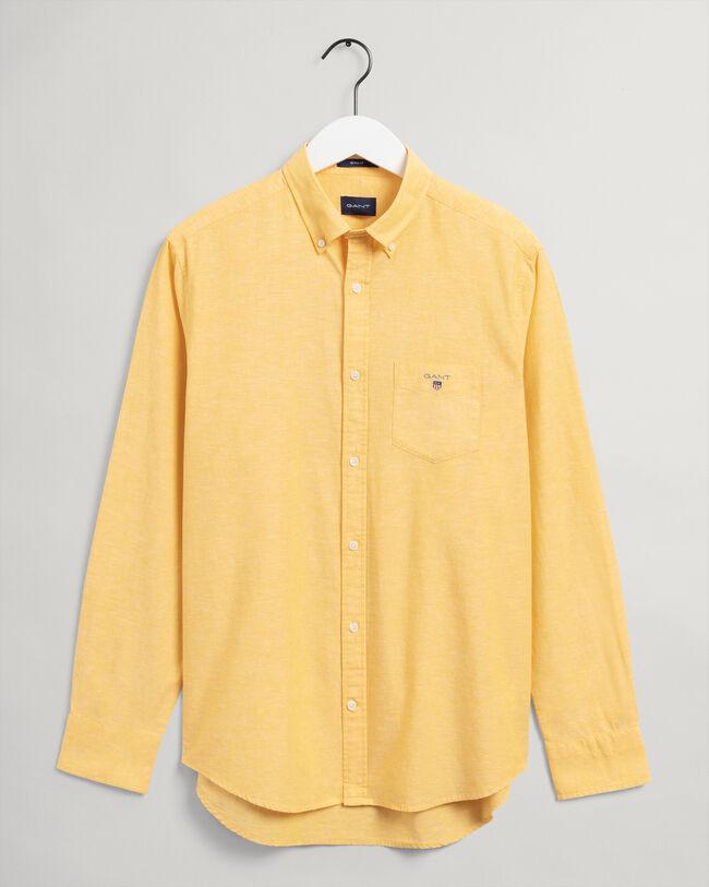 Regular Fit Baumwoll Leinen Hemd