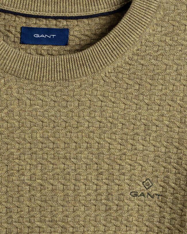 Texture Baumwoll-Rundhalspullover