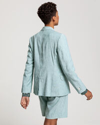 Regular Fit Stretch Leinen Blazer