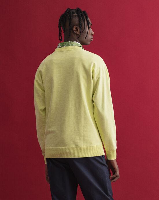 Rundhals-Sweatshirt mit farblich abgestimmtem Logo