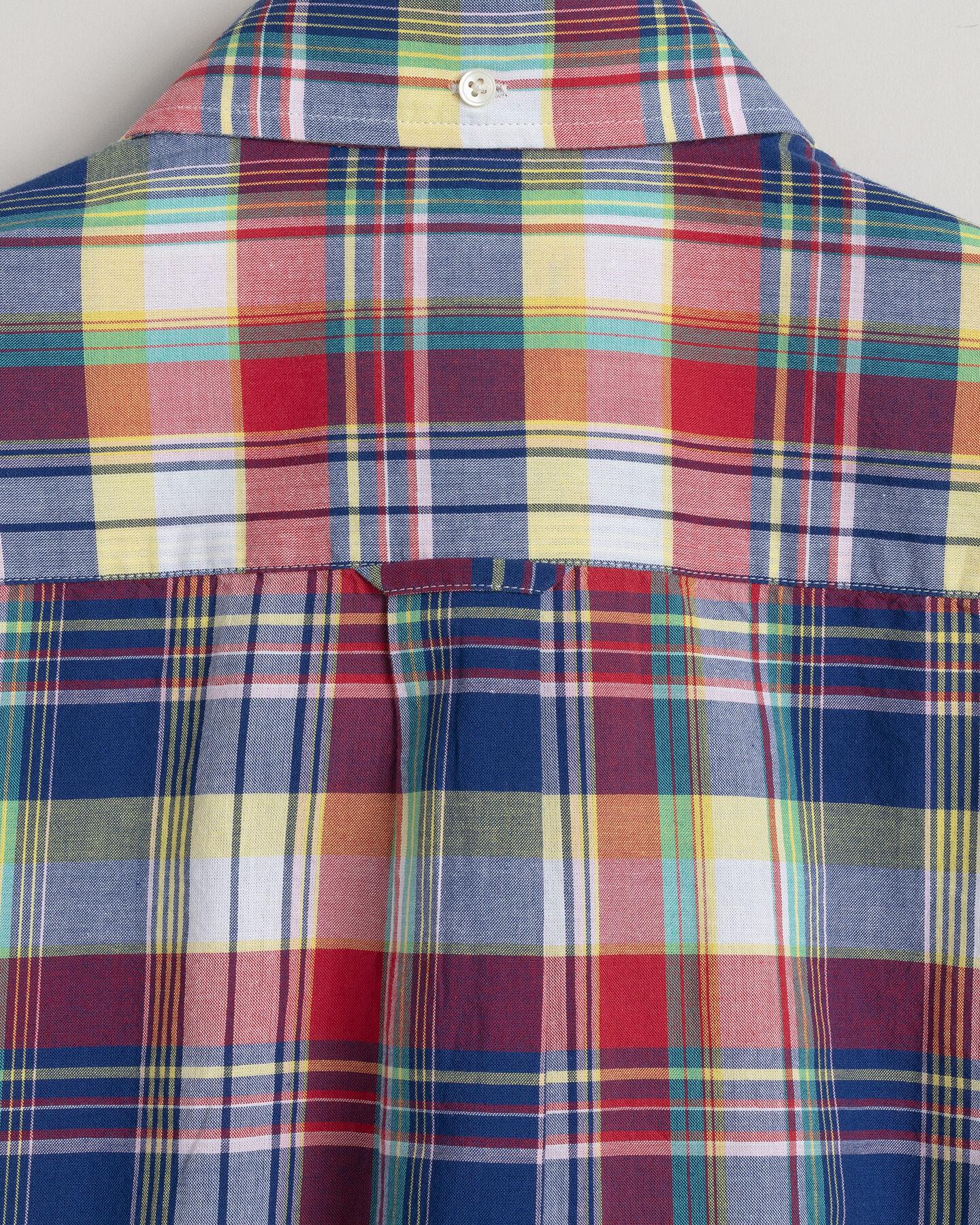 Indian Madras Regular Fit Kurzarm Hemd