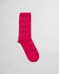Socken mit mehrfarbigen Punkten