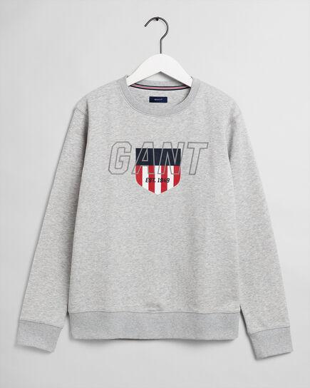 Teens Sporty Shield Rundhals-Sweatshirt