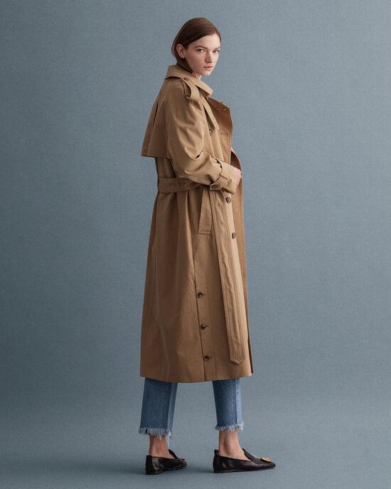 Oversize Trenchcoat aus Baumwolle